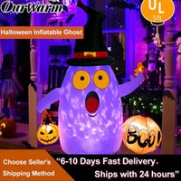 OurWarm Halloween Inflatables Ghost with LED Rotating Light for Halloween Decor Horror House Yard Decorations Halloween Props 200929