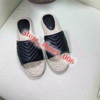 gucci slippers Lüks Tasarım Espadrilles Kadınlar Yaz Bahar Platformu Donanım Loafer Kızlar Ile Hakiki Deri Hasta Sole Terlik EUR 35-40 Kutusu Ile