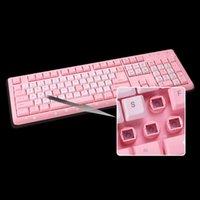Keyboard mecânico de jogos com fio Backlit 104 Keyboards para laptop PC Computer Gamer