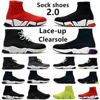 Summer Sock shoes 2.0 speed zapatos casuales para hombres Clear Sole Lace-up triple negro blanco rojo azul gris hombres mujeres tenis deportes zapatillas 36-45
