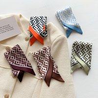 2021 Designer Scarf imitate Silk Scarf Fashion Headband Luxury Letter Print scarf Women Silk Scraves Top Grade Silk Muffler Hair Bands 120*8cm