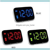 Récor de bureau HOME GARDENDESK Table horloge de réveil activé par la voix Écran numérique à LED avec boutons SN séparé 12/24 heure Réglage USB