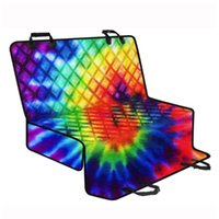 Colorful Tie- dye Pattern Car Seat Covers For Pet Dog Eco- fri...