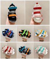 Erkek Kız Çocuk Sandalet Toddler 2021 Tasarımcı Moda Siyah Beyaz Kırmızı Yeşil Renkli Çocuk Terlik Satılık