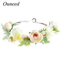 Decorative Flowers & Wreaths Rustic Bridesmaid Hair Flower Headbands Wedding Accessories Bridal Crown Headpieces Girls Garland