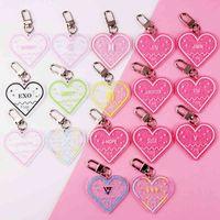 KPOP Bann Boys Keychain TWICE EXO SEVENTEEN GOT7 Acrylic Key Chain Gift JIMIN JUNGKOOK V RM ARMY J-HOPE Keyring