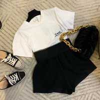 Cotton Women's Two Piece Pants Sweat Suit T-Shirt Top with Short Set Gym Outfit Fashion Letter Printing Tracksuit