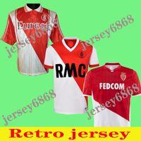 90 91 92 94 95 96 97 99 00 Monaco Retro Red Futbol Formaları 1990 1991 1992 1994 1995 1996 1997 1999 2000 Monaco Retro Klasik Futbol Gömlek