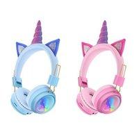 AH-902A Wireless Headphones Rainbow unicorn Cat ears headset stereo Bluetooth headsets