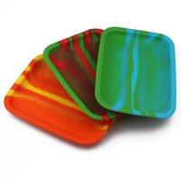 20 cm * 14,5 cm Walzschale Bunte Silikon-Tabakrolle Rolling Tabletts Wärmebeständige Lebensmittelqualität Rauchen Zubehör