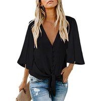 Women's Blouses & Shirts Summer Women Fashion Casual Solid Color Shirt Loose Tunic Blouse Tops Female Clothes Plus Size