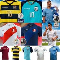 إكوادور 2021 كوبا أمريكا بيرو الفانيلة لكرة القدم أوروجواي فنزويلا المنزل pervis estupiñán 2022 gonzalo g.plata michael estrada f.martinnez l.campana shirts