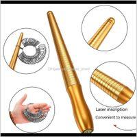 10 Estilo Tamaño de los dedos Equipo de Medición Metal Stick Ring Sizer Ring Stick Ampliar Mandrel Gauge Herramientas Juego de Joyería H PQHP NMSFV