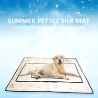 Cane canino Pet Letto Collitore Radiatore Mat Pad Cool Ice Silk Cooling Cushion Estate Soft House Kennels Pens