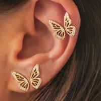 Cubic Zircon Half Butterfly Stud Earrings For Women 2021 INS Series Sweet Fashion Jewelry Earings Bijoux
