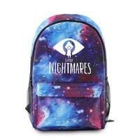حقيبة الظهر Kawaii Little Nightmares 2 طالب حقائب مدرسية شابة دفتر حقائب مطبوعة أكسفورد للماء الفتيان / الفتيات رواج صغير