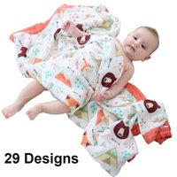 29 Designs 4 and 6 Layers Soft Muslin Bamboo Cotton born Sleeping Receiving Bed Blanket Swaddle Kids Children Baby 210908