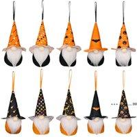 Party Supplies Halloween Decoration Hanging Gnome Ornaments Plush Vampire Spider Pumpkin Tomte Elf Doll Pendant Kid Gift EWE9612