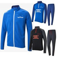 2021 Glasgow Rangers Soccer Trainingsanzug Jerseys Hemden Trainingsjacke Blue Black Long Hose 2022 21 22 Set Kits Football Hemden