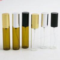 24 x 10ml 여행 유리 바이알 향수 미스트 스프레이 병 1/3 oz 재충전 가능한 퍼퓸 원자리기 10cc 향기 BottleHigh 수량