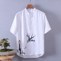 Brand Tops Men Bird Printed Long Sleeve Casual Shirt Comfort...