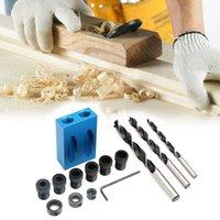 Tool à main professionnelle Ensembles de la perforation de meubles de bricolage 6/8 / 10mm Perceuse en bois Oblique Traval Travalise Carpentry Set Accessoires de bits