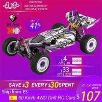 WLTOYS 2.4G RACING RC CAR 60 km / h Chasis de metal 4WD Road Drift Drift Electric Remote Control Toys para adultos Niños 124019 210830