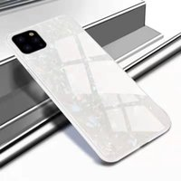 Shell pattern glass phone cases for iPhone 12 11 pro promax X XS Max 7 8 Plus samsung S10 S20 NOTE10