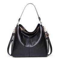 HBP 2021 European and American Style Shoulder Bag Fashion Lady Messenger Handbag Large Capacity Wallet PU Leather Black