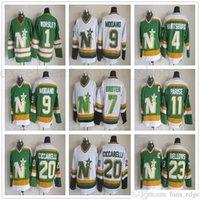 Vintage Minnesota North Stars Ite Hockey Jerseys 1 Gump Wortsley 9 Mike Modano 20 Dino Ciccarelli 11 JP Parise 4 Craig Hartsburg Maglie
