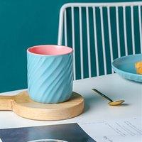 ceramic tumbler coffee tea cup hot caffe tumblers cute two-tone drinking water cups coffe teaware taza de agua