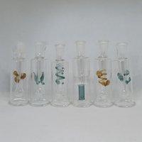 Mini Water Glass Bong Perc Hookah 10mm Female Joint Burning Oil Dry Herb Tobacco Percolator 6 Types Clear Smoking Pipe Portable Beaker
