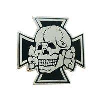 WW2 German Iron Cross Skull Lapel Pin Army Elite Officer Badge retro Death Head Brooch H1018