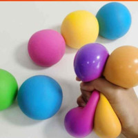 Squish Squeeze Stressball Balloon Toys Rainbow Push Anxiety Stress Relief Autism Fidget Jelly Squishy Squeezy Decompression Balls gyq WHT0228