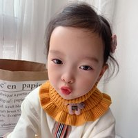 Scarves Children Winter Cute Warm Knitted Wool Pullover Scarf Boy Girl Toddler Baby Korea Fashion Solid Jersey Circle Ring Kids