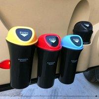 Storage Baskets Car Trash Can Organizer Garbage Holder Automobiles Bag Accessories Auto Door Seat Back Visor Bin Paper Dustbin