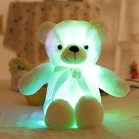 아이 선물 플러시 장난감 50cm 빛나는 인형 테디 베어 나비 넥타이 내장 된 LED 다채로운 빛 기능 발렌타인 데이
