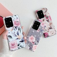 Vintage Retro Flower Rose Phone Cases Soft Silicone for Samsung Galaxy S10 S10e S20 S21 FE Plus Ultra Note10 Note20 Shockproof TPU Shell Cover