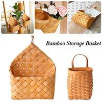 Rattan Basket Bamboo Mini Handmade Tipo Appeso Soggiorno Soggiorno Soggetti Sundries Lavanderia con cestini manico
