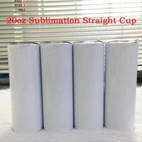 20oz 600ml sublimation Mug straight tumblers Blanks white Stainless Steel Vacuum Insulated Tapered Slim DIY 20 oz Cup Car Coffee Mugs