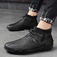 Nuevos zapatos de moda británicos suaves y cómodos, casual, hombre, cosido, cosido, calcetín, boca, botas superior de otoño