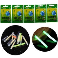 25 / 50pcs Pesca Float Glow Sticks Night Green fluorescent Light per Bobber Bell Alarm 4.5 * 37mm Accessori