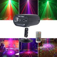 Mini Laser Lighting 48 Patterns Home LED Disco Light Professional DJ Stage 3 Holes Laser Projector Lights Music Control Party Light In Stock