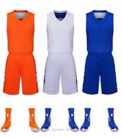 wholesale Customized men Basketball Uniforms,mens kits Sports clothes tracksuits Discount Cheap boy Basketball Sets tops With Shorts A8-15