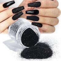 10ml 병에 든 네일 반짝이 액세서리 화이트 블랙 골드 퍼플 라이트 다채로운 손톱 모직 분말 손톱 레이저 빛나는 설탕 안료 먼지