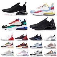 الولايات المتحدة الأمريكية ولدت 270 أحذية ركض للرجال والنساء air max 270 airmax s Core White University Red USA ثلاثية سوداء رياضية رياضية للرجال أحذية Zapatos 36-45