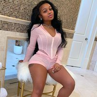 Women's Tracksuits Sexy Outfits For Woman Long Sleeve Zipper Hoodie Top And Shorts Set Casual Suit Summer