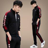Primavera e outono 2021 nova moda marca mens ocasional esportes terno adolescentes meninos sportswear camisola de três peças conjunto