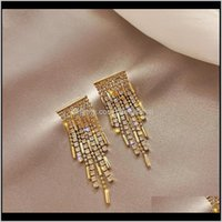 & Chandelier Jewelryfyuan Long Tassel Rhinestone For Women Korean Style Geometric Crystal Dangle Earrings Fashion Jewelry Gifts1 Drop Deliver