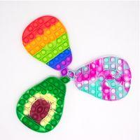 Fidget Toys Push Bubbles Rainbow Gold Powder Avocado Gifts for Children